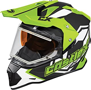 Castle X Mode Dual-Sport SV Team Electric Snowmobile Helmet (MED, Hi-Vis)