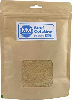 Gelatina de Bovino 250g 240 Bloom. Grado profesional
