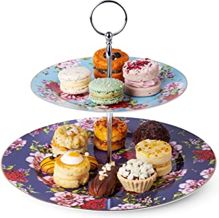 Office 3 Tiered Vintage China Cupcake Stand *  Our Everything Plate Stand can DisplayDecorateOrganizeServe * Bathroom etc. Kitchen