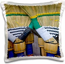 3D Rose Colorful Brooms at Market-Philippines-As29 Ksu0002-Keren Su Design Pillowcase, 16