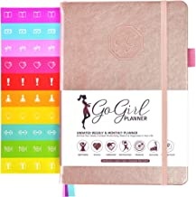 GoGirl Planner and Organizer for Women - Compact Size Weekly Planner, Goals Journal & Agenda to Improve Time Management, Productivity & Live Happier. Undated - Start Anytime, Lasts 1 Year - Rose Gold