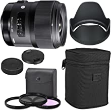 Sigma 35mm f/1.4 DG HSM Art Lens for Nikon DSLR Cameras + AOM Starter Kit, Sigma Case, Hood, Ultraviolet Filter (UV) Polar...