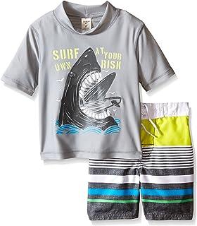 Osh Kosh Boys ' Sharkショートスリーブラッシュガードセット