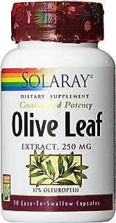 Solaray Guaranteed Potency Olive Leaf Extract, Veg Cap (Btl-Plastic) 250mg   30ct