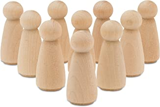 product image for Unfinished Mom and Angel Peg Dolls 3.5 Inch, Bag of 10 Unfinished Wood Mom and Angel Doll Bodies (3-1/2 Inch) from Birch by Woodpeckers
