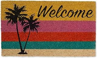DII DM WELCOME PALM TREE Doormat, 18x30