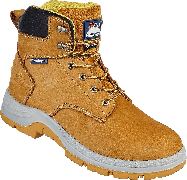 Himalayan 5250 S1P SRC Premium Honey Nubuck Leather Steel Toe Cap Safety Boots