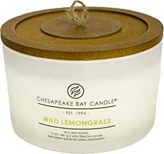 Chesapeake Bay Candle 3-Wick Scented Candle, Wild Lemongrass, Coffee Table Jar