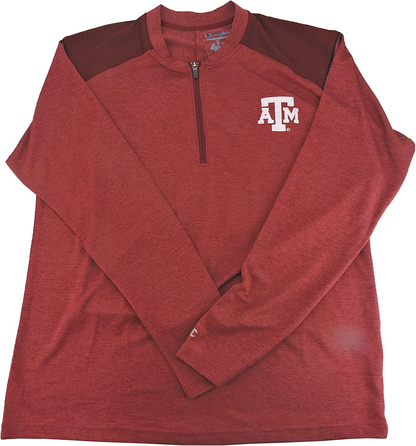 Champion Men Ranking security TOP14 Texas AM 1 4 Red Pullover in XL Zip Size
