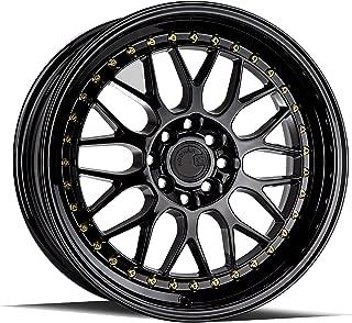 AodHan AH02 Wheel - Full Black (Gold Rivet): 17x8 Wheel Size; 4x100/114.3 Lug Pattern; 73.1mm Hug Bore; 35mm Off Set.