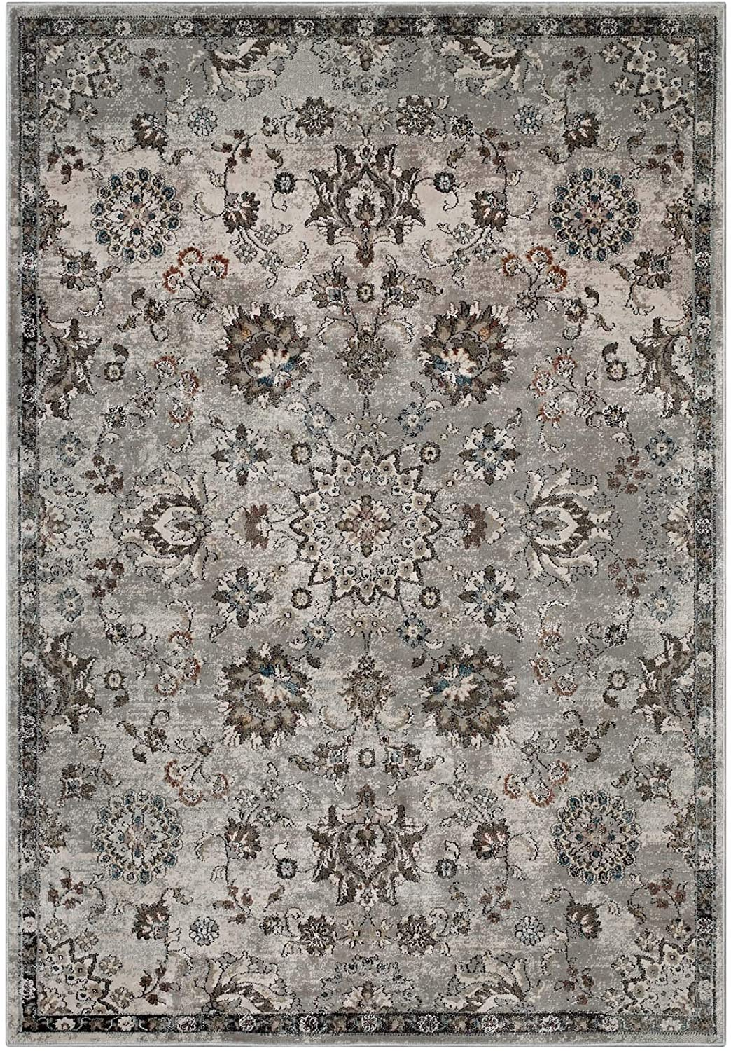 Modway Max 55% OFF Hana Distressed Vintage Indefinitely Floral Lattice Rug Si Area In 5x8