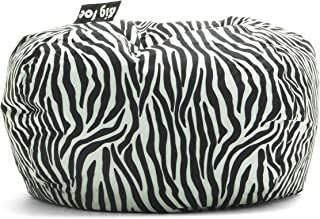 green zebra print chair