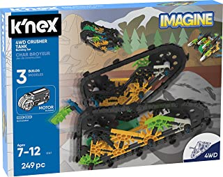 K'Nex 13127 Imagine - Juego de construcción de Tanques de 4 WD de 7 años de Edad, Juguete Educativo de ingeniería, 249 Piezas