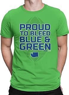 Rival Gear Seattle Football Fan T-Shirt, Proud to Bleed by