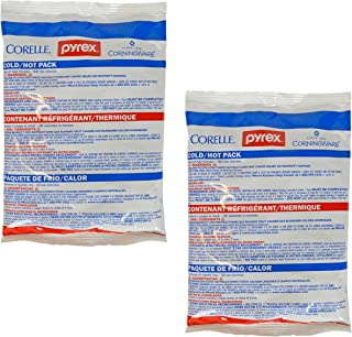 Pyrex Small Hot Cold Unipack for Freezer or Microwave (2 Pack)