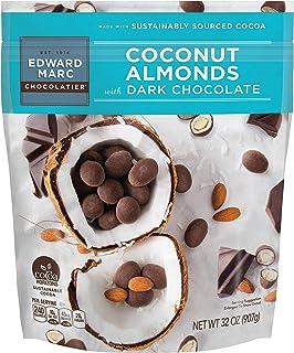 32oz Edward Marc Chocolatier Coconut Almonds with Dark Chocolate (2-pack)