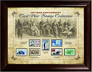 American Coin Treasures 150 Year Anniversary Civil War Stamp Collection Framed