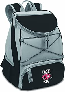 PICNIC TIME NCAA Wisconsin Badgers PTX Insulated Backpack Cooler, Black