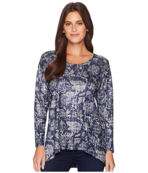 NALLY & MILLIE Blue Floral Print Tunic, Multi