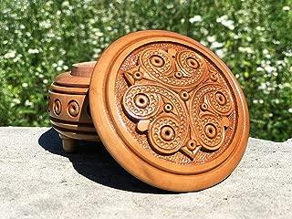 Wooden Ring Box - Wood Ring Holder - Wedding Ring Box - Engagement Ring Box - Rustic Ring Box - Jewelry Ring Box - Hand Made Proposal Ring Box - Small Carved Ring Box - Handmade Wooden Box - Carving
