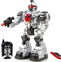 Toysery Remote Control Robot Police Toy for Kids Boys Girls with Flashing Lights Action Toy for Boys