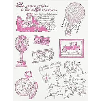 RAYHER HOBBY 58175000 - Sellos (2-8,5 cm), diseño Vintage de Viajes: Amazon.es: Hogar
