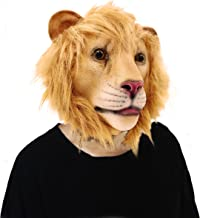 Lubber Lion Animal Head Latex Mask for Halloween Costume Party