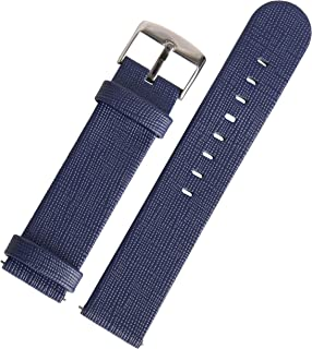 Real Leather Quick Release Saffiano Replacement Watch Band Strap