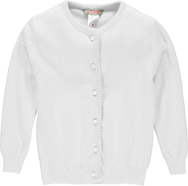 Sophie and Sam Girls' Soft Knit Cardigan Sweater School Uniform