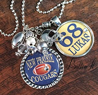 MOM gifts, gifts for mom, Personalized necklace, Football Mom, SPORTS jewelry, jersey number, charm necklace, basketball, soccer, wrestling mom, volleyball, Christmas