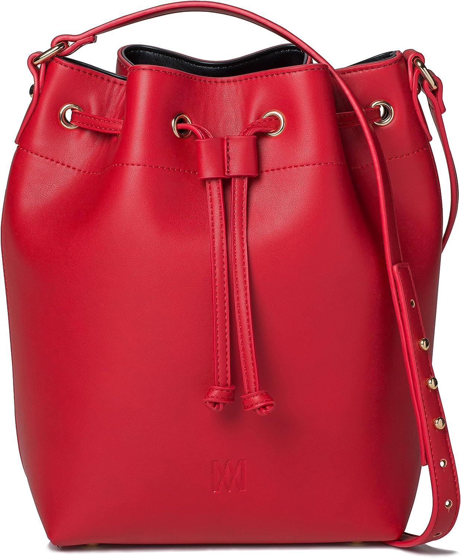 Marsi Bond Trendy Vegan Faux Leather Jane Fashion Crossbody Bucket Bag