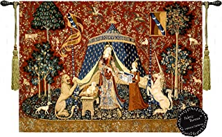 Desire-the Lady and the Unicorn Medieval Jacquard Woven 32