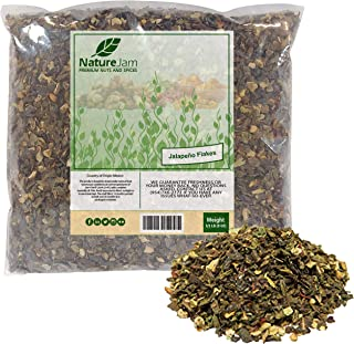 KOSHER Dried Hot Jalapeno Pepper Flakes - Washed Diced & Dried (1/2 Pound)