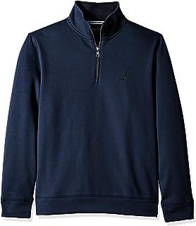 Men's Solid 1/4 Zip Fleece Sweatshirt