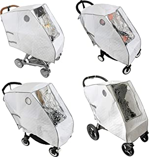 Baby Stroller Rain Cover - Provides Extra Warmth and Shields your Child from Wind and Rain. Universal Size, Mesh Material ...