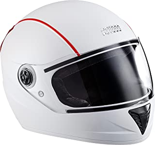 Studds Professional Full Face Helmet (White and Red, M)