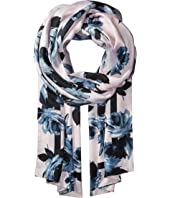 Kate Spade New York - Night Rose Silk Oblong Scarf