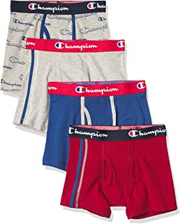 Champion Boys' Everyday Comfort Cotton Stretch Boxer Briefs 4-Pack