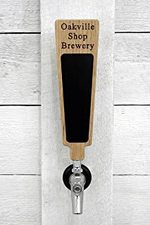 Custom Personalized Beer Tap Handle with Premium Surface Marker Board. Engraved with Personalized Text. Great for Tap Rooms, Breweries and Home Kegerators