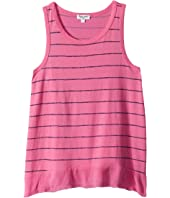 Splendid Littles - Printed Stripe with Crinkle Gauze Hem Top (Big Kids)