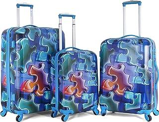 Sonada Luggage Trolley Bags for Unisex, 3 Piece, Blue97327