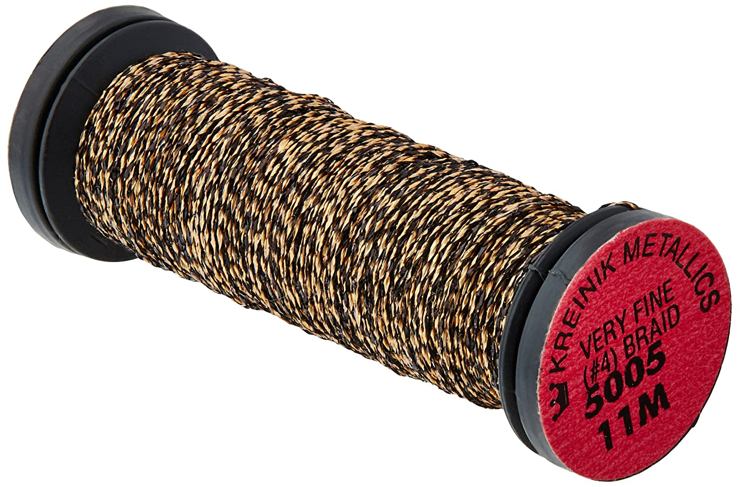 Kreinik No.4 Very Fine Metallic Craft Braid, 12-Yard, Gold Coin