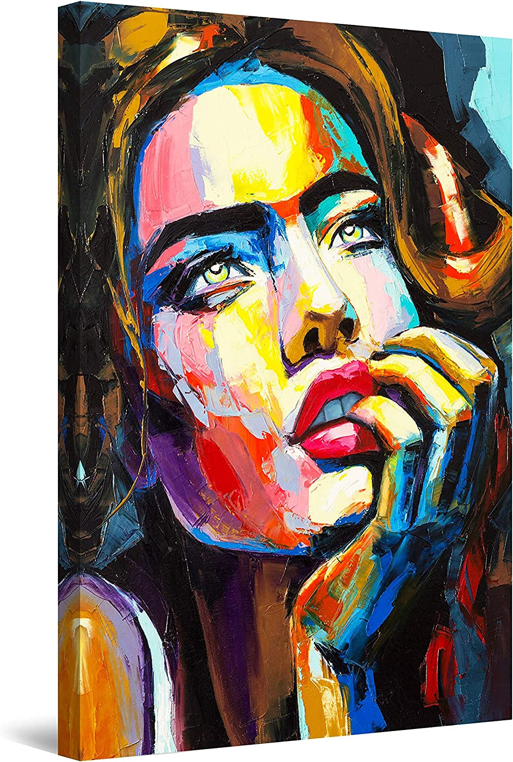 A surprise price is realized Startonight Canvas Wall Art Decor Contemplation Colored Woman Max 50% OFF of