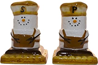 SMores Treats Campground Favorite Salt and Pepper Shaker Set Earthenware