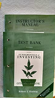 2 VOLUMES Instructor's Manual and Test Bank, Fundamentals of Investing 10th Edition (Gitman & Joehnk)