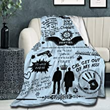 "Super Soft Light Weight Throw Blanket 15 Years of Supernatural Tv Show 4 Summer Quilt for Bed Couch Sofa 50""X40"" XS Twin f..."