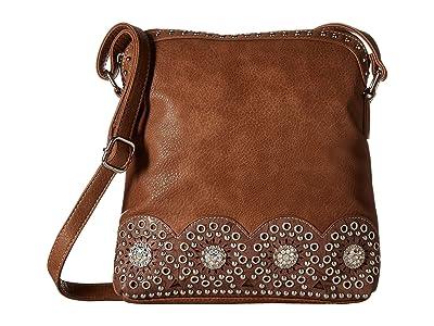 M&F Western Rhianna Messenger Bag (Brown) Messenger Bags