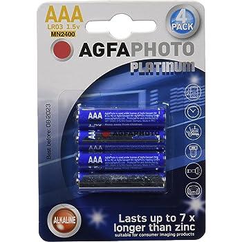 AgfaPhoto 110-802572 - Pilas alcalinas AAA, pack de 4 unidades ...