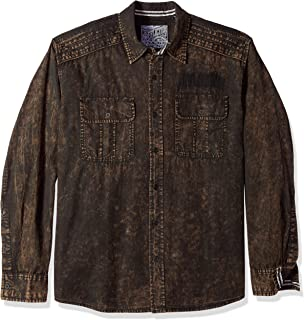 Affliction mens Replica Button Down Shirt
