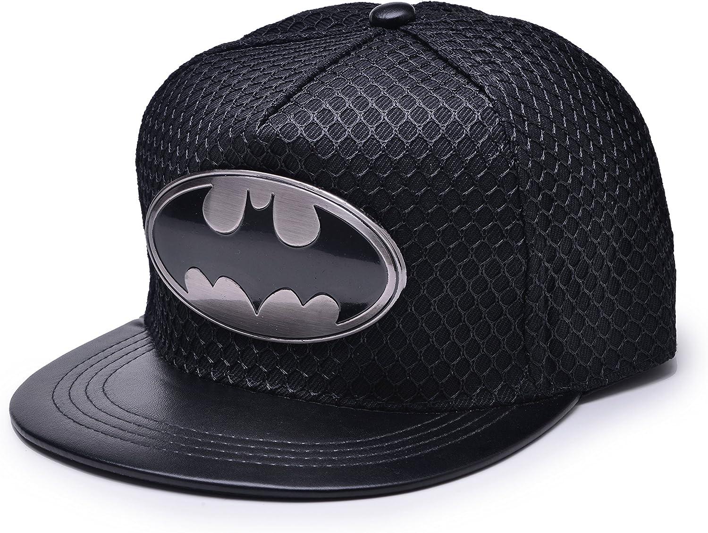 REINDEAR Bat Man Logo Baseball Cap Max 53% OFF Hip-hop Black SEAL limited product w Snapback Mesh